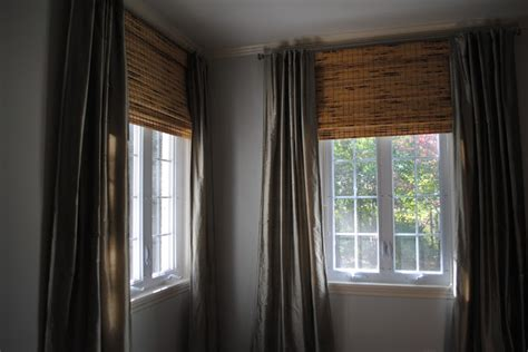 bamboo shades with curtains a perfect gray nate berkus and bamboo blinds
