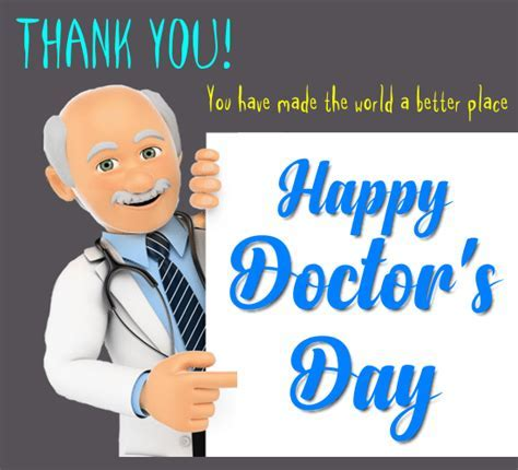 A Thank You Card For My Doctor. Free Doctor's Day eCards