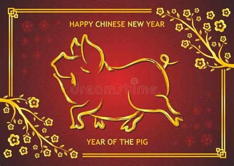 new year pig meaning new year 2019 year of pig stock vector
