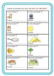 Printable Grammar Worksheets English Worksheet Yes It Is No It Isn 180 T