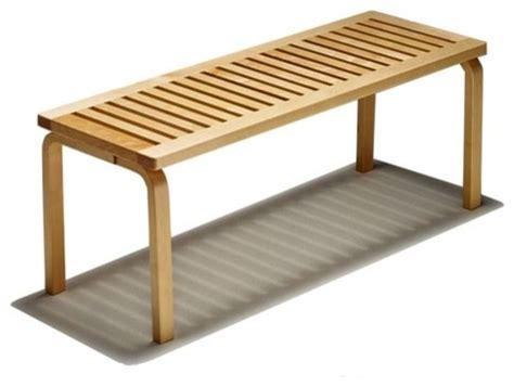birch bench birch veneer bench modern indoor benches by allmodern