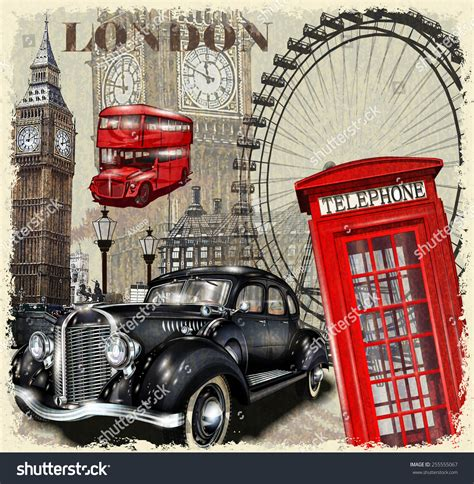 Beautiful Sports Cars That Start With S #11: Stock-vector-london-vintage-poster-255555067.jpg