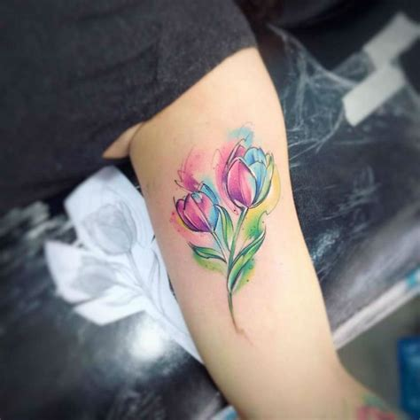 watercolor tulip tattoos best 25 tulip ideas on small