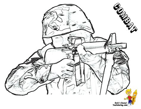 free coloring pages of army gun