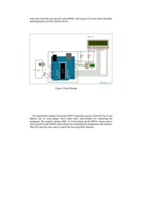 controlled room temperature automatic room temperature controlled fan using arduino uno microc