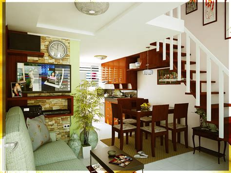 sample interior design  small house   townhouse