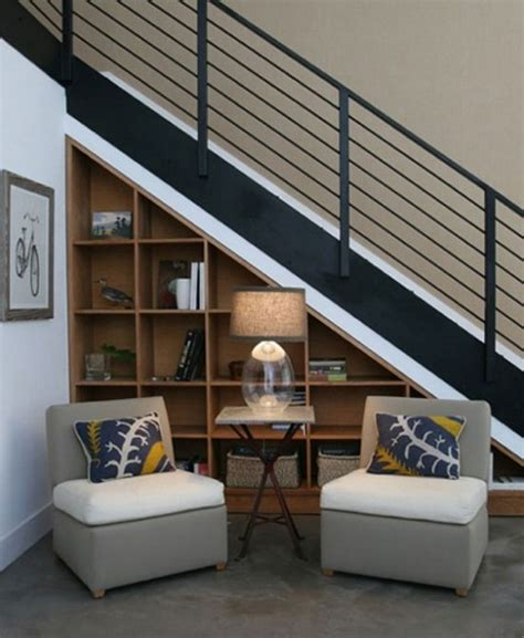 sofa under stairs 50 hallway under stairs storage ideas to try in your