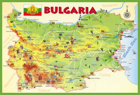 map of bulgaria bulgarien touristische karte