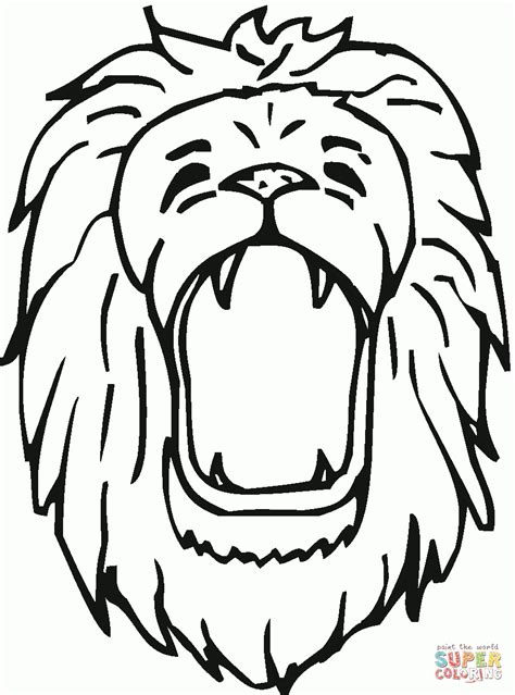 coloring page of a lion s head lion head coloring page coloring page pictures