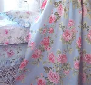 French ruffle pink roses cottage colors shower curtain