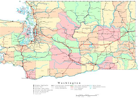 washing state map state of washington map with cities county