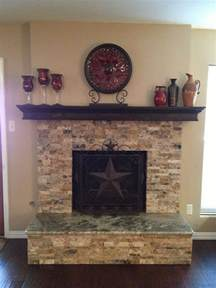 Sofa Recover Stacked Stone Fireplace With Granite Hearth Fireplace