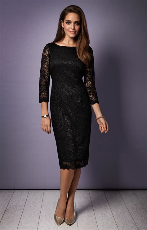 Dress Kahlila Black By Sisesa Clothing Katherine Lace Occasion Dress Black Evening Dresses