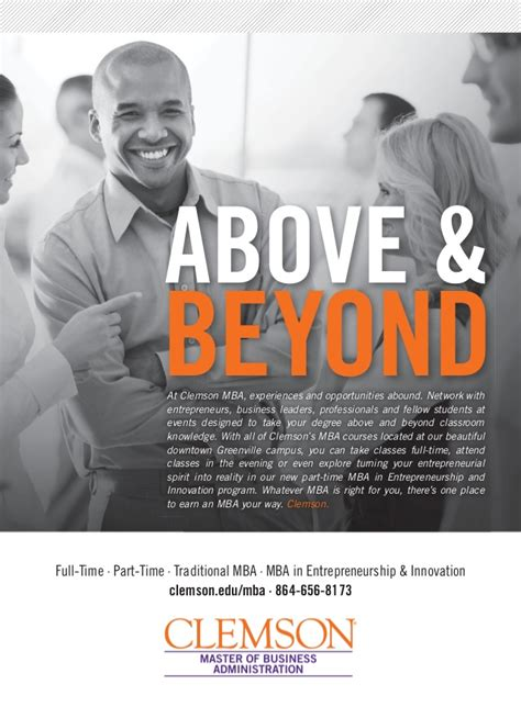 Clemson Part Time Mba Tuition by The Exchange Magazine Clemson