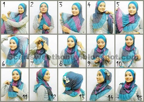 hijab tutorial pashmina for party hijab style yang simple hijab top tips
