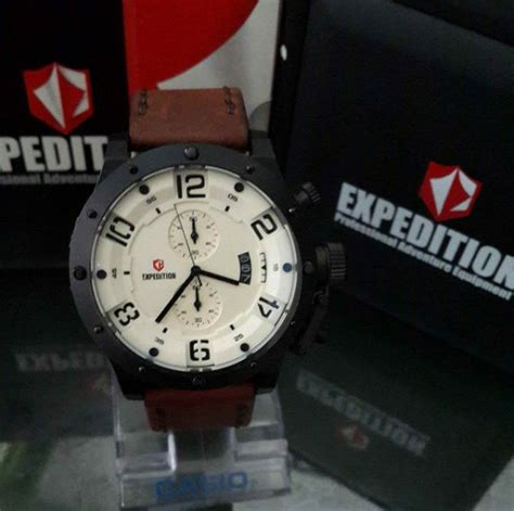 Jam Tangan Non Original Iwc Topgun Miramar jam tangan expedition 6381 m black brown original expedition original
