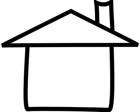 Free House Outline Image by Clip House Outline Black And White Clipart Best