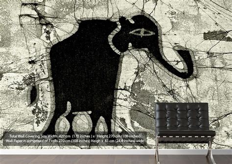 elephant wallpaper for walls uk tribal elephant black ethnic ethnic wallpaper printed wall