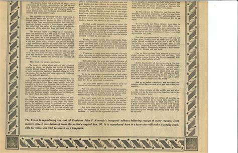F Kennedy Inaugural Speech Essay by Essay On F Kennedy Inaugural Address