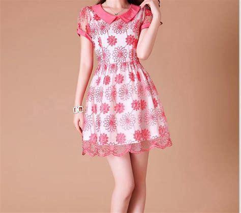 Dress Bunga Cantik Sy Bg 01 mini dress motif bunga cantik 2015 model terbaru jual murah import kerja