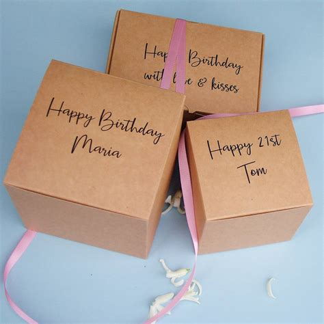 Card Gift Boxes - brown card personalised gift boxes by seahorse notonthehighstreet com
