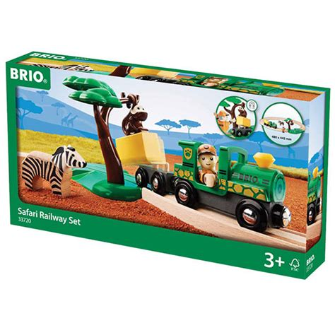 brio wooden train set brio 33720 safari starter set wooden train set