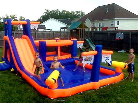 Backyard Pool Water Slides Water Slide Park Backyard Commercial Grade Bounce House Pool Ebay