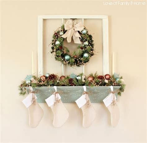 hang stockings without mantle vintage whites 4 ways to hang without a mantel