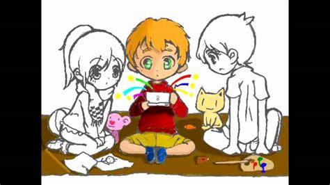 Imagenes De Niños Jugando Nintendo   dibujo 002 ni 241 os jugando colors nds homebrew gimp
