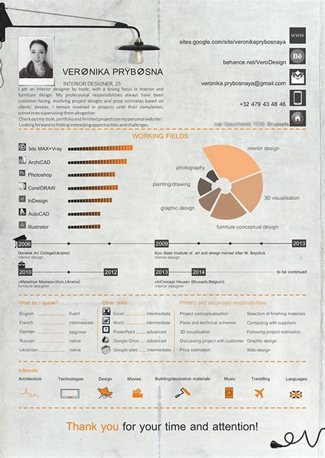 curriculum vitae sle interior designer cv interior designer on behance