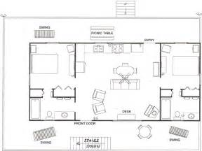 mountain view cabin floor plan