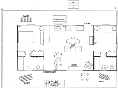 Cabin Floor Plans by Mountain View Cabin Floor Plan