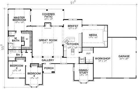 workshop plans large workshop area 3098d 1st floor master suite