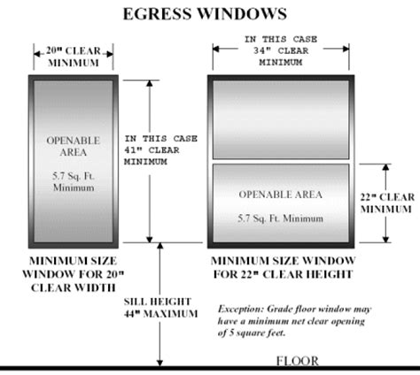 bedroom egress window size requirements egress window height from floor meze blog