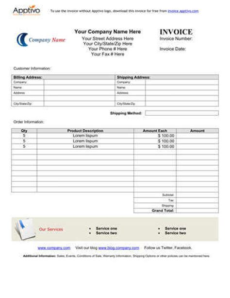 sales invoice templates 27 exles in word and excel