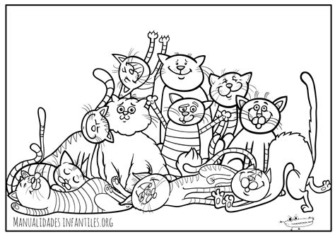 imagenes para colorear gatitos dibujos de gatos para colorear manualidades infantiles