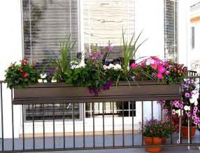 ideas for deck railing planters containers front yard landscaping ideas