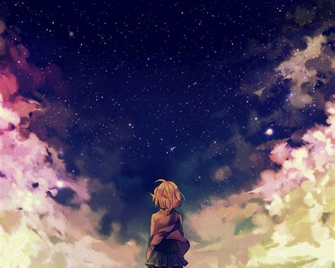 anime girl wallpaper space galaxy note 10 1 2014