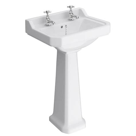 Traditional Pedestal Basin 560 2 tap traditional basin and pedestal