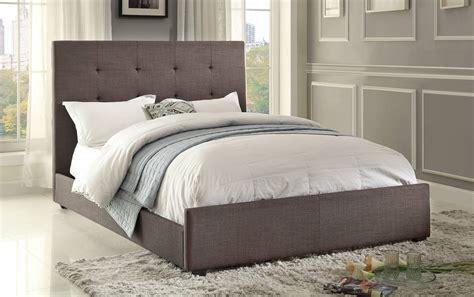 dark grey upholstered bed homelegance cadmus upholstered bed dark grey 1890n 1 at