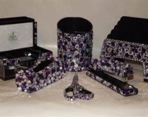 Bling Desk Accessories Items Similar To Large Rhinestone Bling Desk Set Office Supplies On Etsy