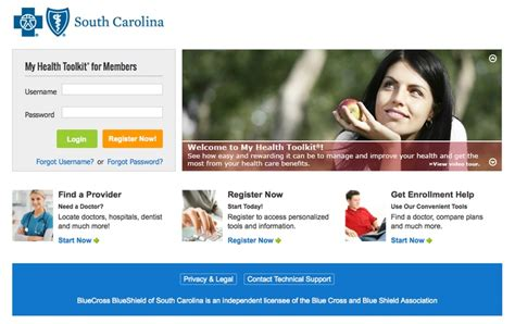 bcbs of sc offers my health toolkit at member