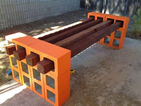 cinder block bench with back cinder block bench for your home outdoor s beauty