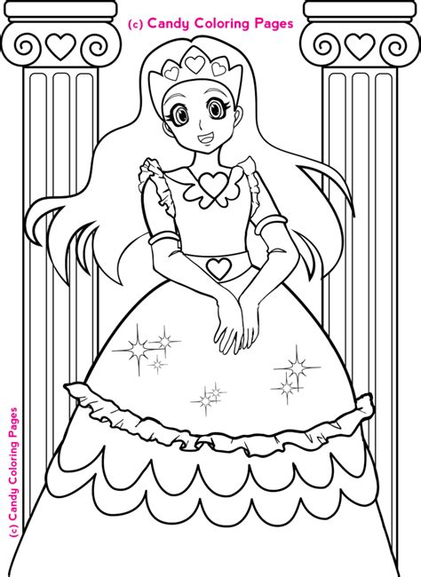 Coloring Pages Free Princess Coloring Pages Penny Candy Coloring For