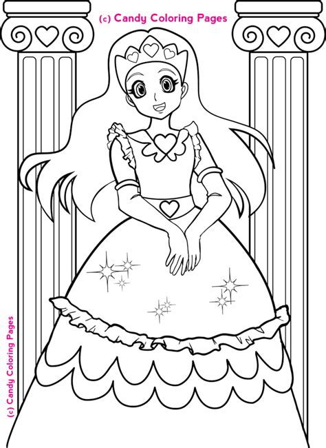 Coloring Pages Free Princess Penny Candy