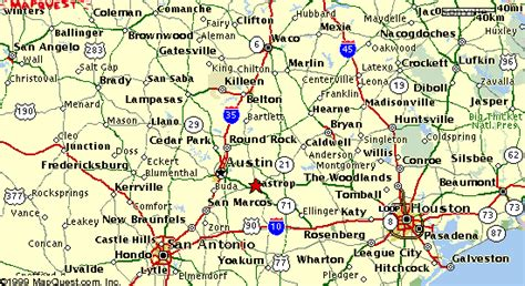 map of texas including cities central texas map images