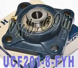 ucf 201 8 fyh bearing square flanged 1 2 quot inner mounted