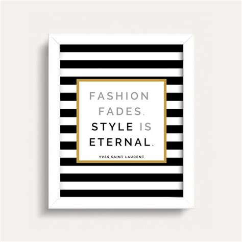 top 28 unavailable listing on etsy fashion quotes fashion quote wall print yves laurent black