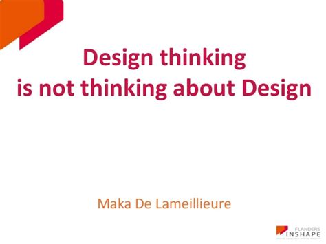 Design Thinking Slideshare | presentation design thinking