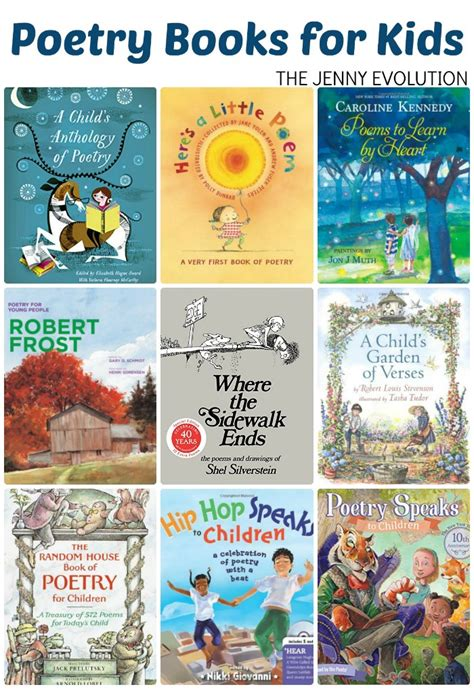 Poetry Books For Children Poetry Study Unit